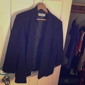KASPER size 14 black blazer
